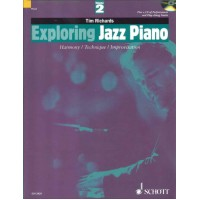 کتاب آموزش پیانو جاز Tim Richards_Exploring Jazz Piano Vol 2